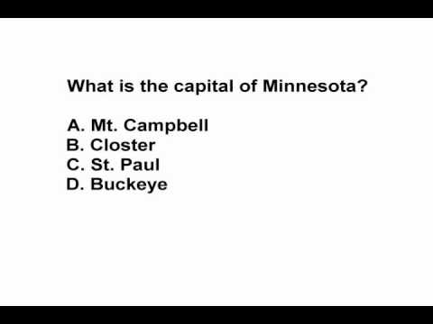 watch State Capitals Practice Test