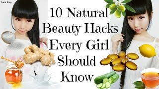 10 Natural Beauty Hacks Every Girl Should Know | How to Become More Beautiful in Daily Life