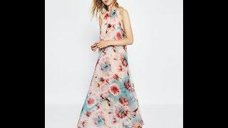 Zara 2016 Yazlık Maksi Kadın Elbiseleri