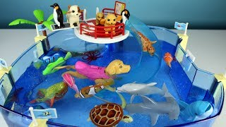 Sea Animals Toys and Swimming Puppies - Learn Animal Names For Kids