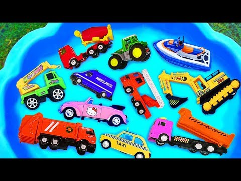 Cars for kids Toys review and learning name and sounds Construction vehicles Excavator toy
