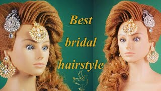 pakistani muslim bridal hairstyle in india (magic techniques by chandra prakash patel)