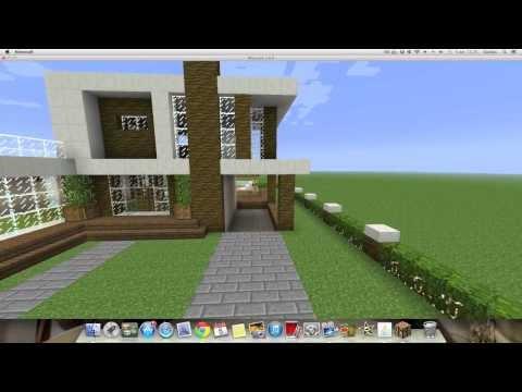 Como hacer una Linda Casa Moderna en Minecraft PT1