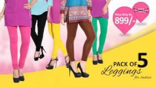 Pack Of 5 Super Lycra Legging For Ladies In Rs. 899/-
