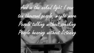 sound of silence lyric video