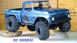 """RC ADVENTURES - """"ICE COLD"""" CHEVY 1966 C10 - AXiAL SCX10 BEAST PiCKUP """"Re-iNCARNATE"""" RC NERDS COLLAB!"""