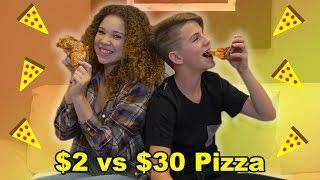 $2 Pizza vs $30 Pizza!  (MattyBRaps vs Madison Haschak)