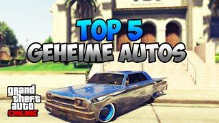 GTA 5 Online: TOP 5 GEHEIME AUTOS | RARE CAR LOCATION | Deutsch