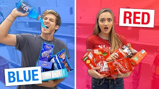 LAST TO STOP EATING THEIR ONE COLOR OF FOOD CHALLENGE WINS $1,000!