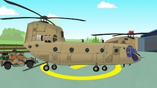 Helikopter   Excavator   Truck and other - Fairytales for Kids   Helikopter, Koparka i inne - Bajki