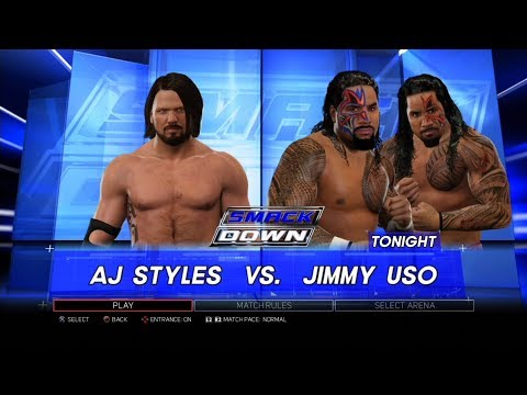 Xxx Mp4 WWE 2K17 PS3 Gameplay AJ Styles VS Jimmy Uso 60FPS FullHD 3gp Sex