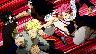 Natsu and Gajeel vs Sting and Rogue Full Fight HD eng dub