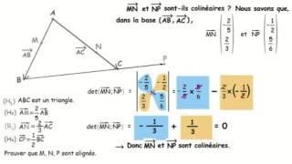 2nde 1ere Vecteurs, colinéarité : Prouver un alignement sans repère.
