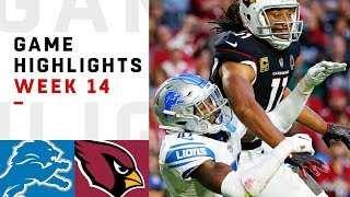 Lions vs. Cardinals Week 14 Highlights | NFL 2018