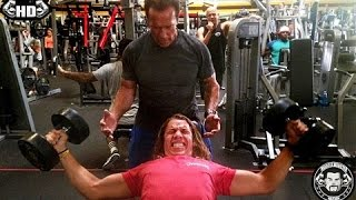 Arnold Schwarzenegger is Training His 18 Year Old Son To Be A Pro Bodybuilder