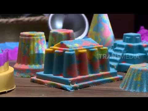 Pasir Ajaib Warna Warni Permainan Anak Yang Bikin Kreatif | Laptop Si Unyil (07/12/18)