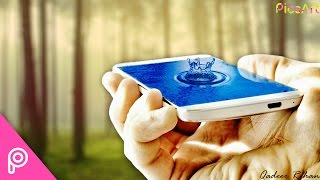 PicsArt Tutorials | How to Create a 3D Pop Out Water drop on Mobile Screen Tutorial HD
