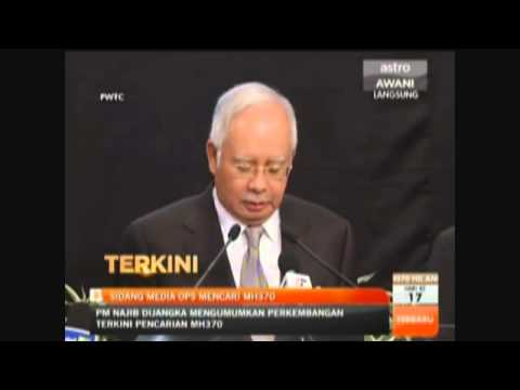 UPDATE: Malaysian PM Says Flight Ended in South Indian Ocean