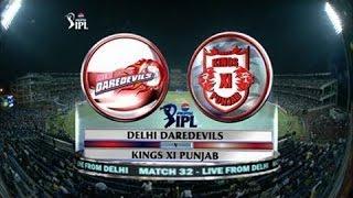 (KXIP) Kings XI Vs (DD) Daredevils