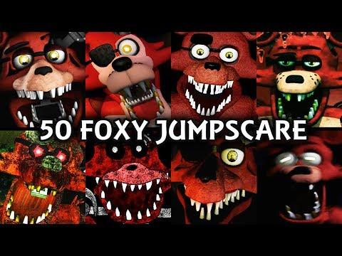 50 FOXY JUMPSCARES!   FNAF & Fangame