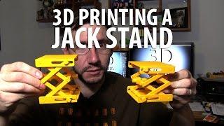 3D Printing a Jack Stand / Scissor Lift plus Simplify3D Horizontal Size Adjustment / Timelapse
