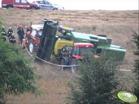 Niecodzienne wypadki maszyn rolniczych