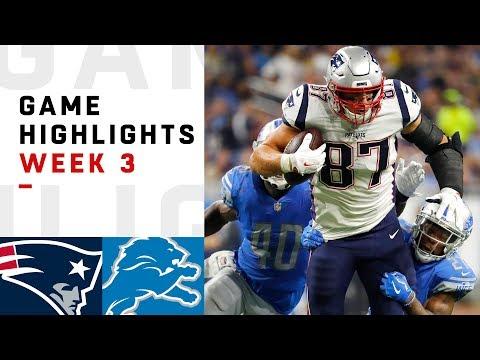 Xxx Mp4 Patriots Vs Lions Week 3 Highlights NFL 2018 3gp Sex