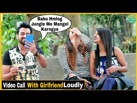 Video Call With Girlfriend in Front Of Cute Girl s Pranks In India Epic Reactions By TCI