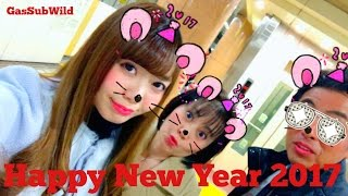 1 2 17 .. Happy New Year 2017 @ Subway Platform, Tokyo Japan (with my wife and my daughter) : VEVO