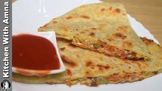 Stuffed Egg Paratha Recipe - Indian Street Food Recipe - Kitchen With Amna