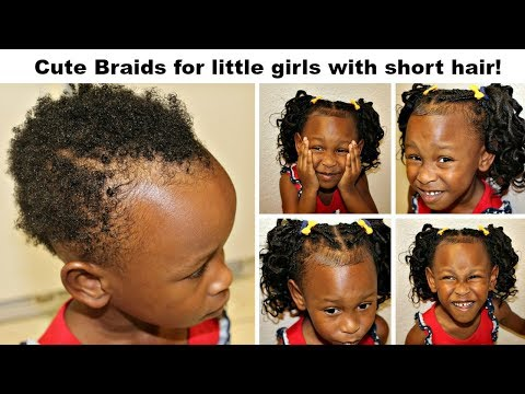 Xxx Mp4 Cute Braids For Little Girls With Very Short Hair No Tension No Roller Curls 3gp Sex