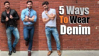 5 AWESOME Ways To Wear Your Favorite Jeans  Simple (But COOL) Outfit Ideas For Men