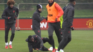 Manchester United Squad Train Ahead Of Their Europa League Match Against St Etienne