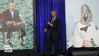 WATCH: Barack, Michelle Obama portraits unveiled at National Portrait Gallery