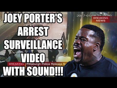 JOEY PORTER S ARREST SURVEILLANCE VIDEO WITH SOUND