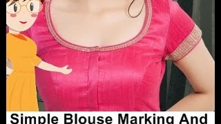 Simple Blouse Marking And Cutting - Tailoring With Usha