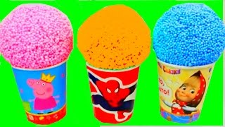 Playfoam Peppa Pig Spiderman Superhero Маша и Медведь Masha and The Bear Surprise Eggs Kids Toys