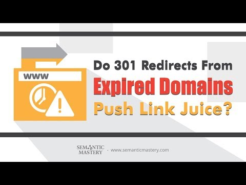 Does 301 Redirects From Expired Domains Push Link Juice?