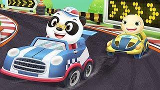 Dr. Panda Racer 🏎️ Juego de carreras de coches para niños pequeños