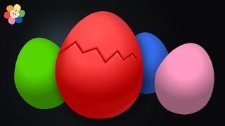 Huevo Sorpresa | Aprendizaje de Colores para Ninos | Rojo | Pandilla de Colores