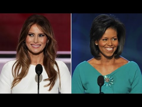 Comparing Melania Trump and Michelle Obama s speeches
