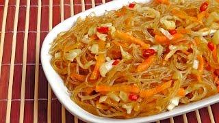 Chinese fried Glass Noodles - Vegan Vegetarian Recipe