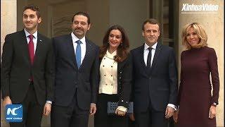 Lebanese PM Saad Hariri arrives at Elysee Palace in Paris