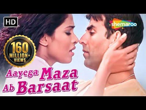 Aayega Maza Ab Barsaat Ka | Andaaz Songs | Akshay Kumar | Priyanaka Chopra | Alka Yagnik| Filmigaane