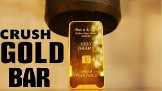 Crushing $40,000 GOLD BAR with Big Hydraulic Press!