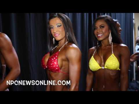 2016 IFBB NY Pro Women's Bikini Competitors Back Stage