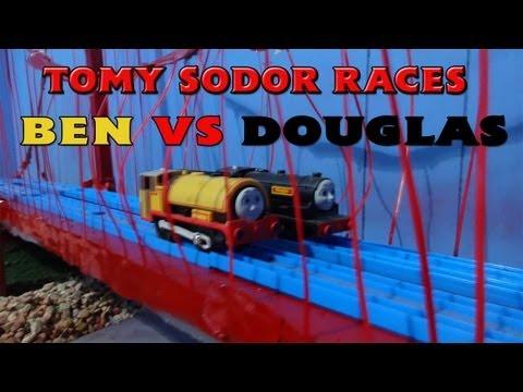 Tomy Sodor Races Ben vs Douglas Race 8