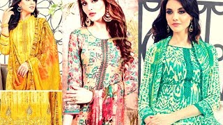 Latest Salwar Kameez Suits Collection - Latest Fashion In Pakistan Winter Collection - 2017 - 2018