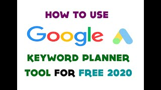 How to use Google Keyword Planner Without making a campaign