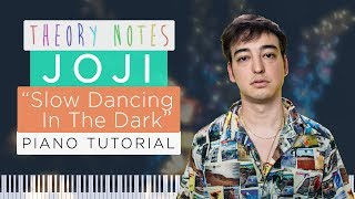 How to Play Joji - SLOW DANCING IN THE DARK | Theory Notes Piano Tutorial